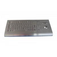 金属不锈钢 可移动台式 防暴防水防撬 带轨迹球鼠标工业键盘