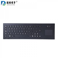 达沃D-8608B金属键盘 工业键盘 防爆键盘 防水键盘 触摸板鼠标键盘